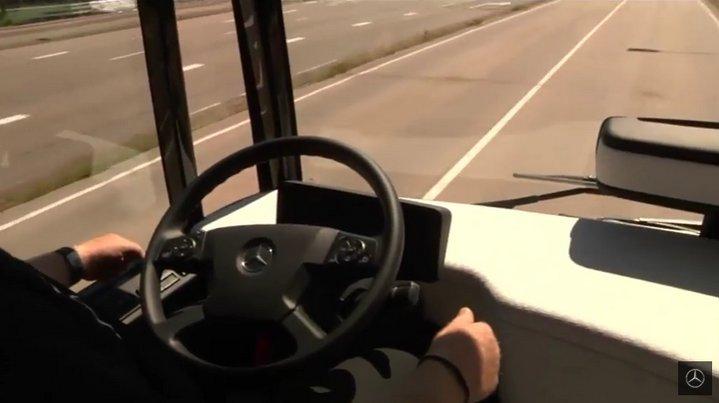 Prueba exitosa del autobús autónomo de Mercedes Benz