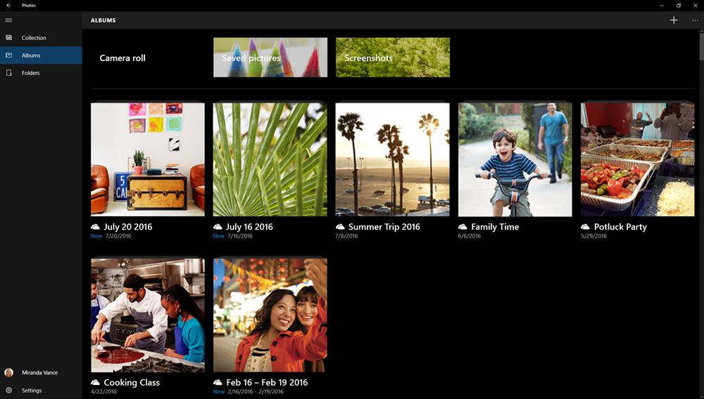 Windows 10 Photos - OneDrive