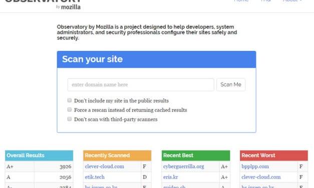 Mozilla lanza Observatory para chequear la seguridad de un sitio web