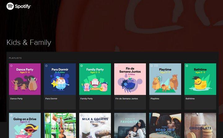 Spotify lanza categoría Niños y Familia para el desarrollo del lenguaje y vocabulario, en inglés y español