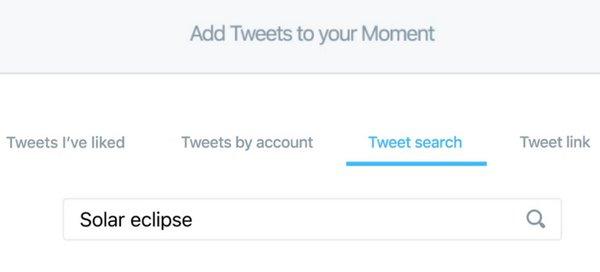 Twitter Momentos