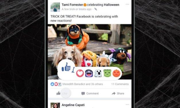 Facebook lanza nuevas Reacciones e introduce Mascaras en Facebook Live con motivos de Halloween
