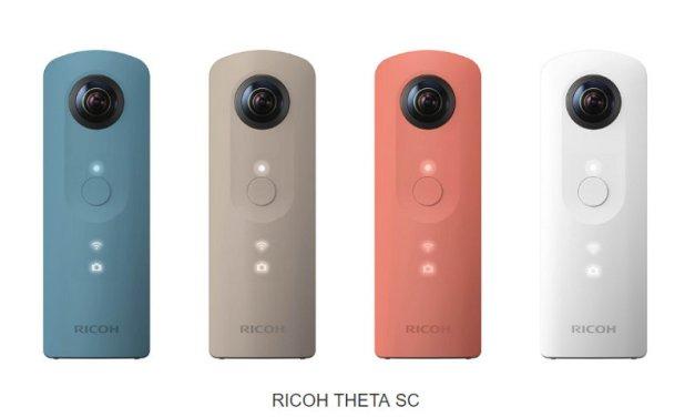 Ricoh introduce una nueva cámara económica de 360 grados
