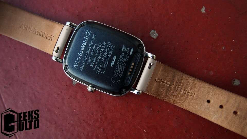 Rear of the Zenwatch 2