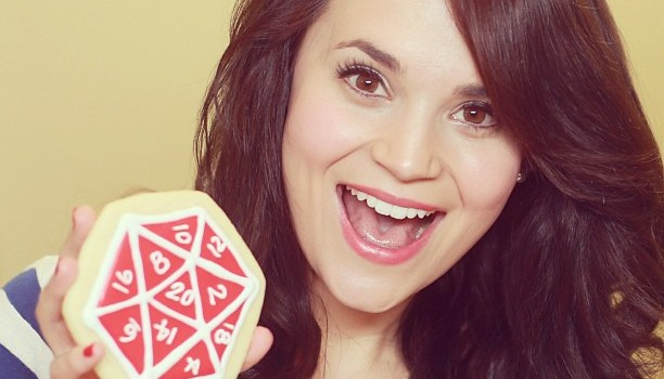 Rosanna Pansino with cookie