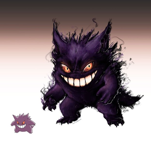 realistic_pokemon_sketches__gengar_by_nauvasca-d61werl