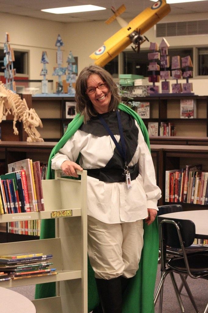 Zita the Spacegirl in an elementary school children's library