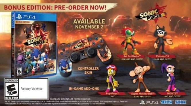 Ya se puede reservar la Bonus Edition de 'Sonic Forces'