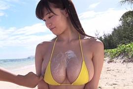 色々あった高崎聖子のうっかりビーチクがはみ出してしまいそうなドスケベイメージビデオ動