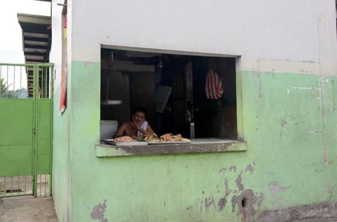 san juan slaughterhouse window with green stripe
