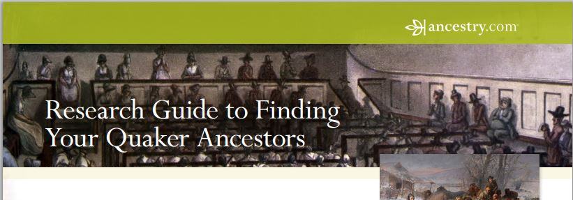 Guide to Finding Quaker Records by Ancestry