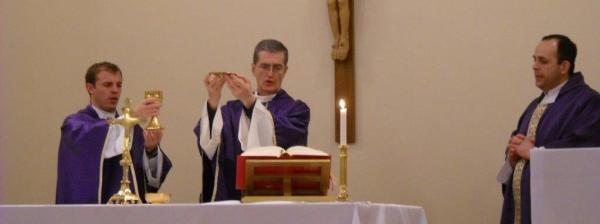 Celebrating the Holy Sacrifice with Fr. Horacio and Fr. Gabriel