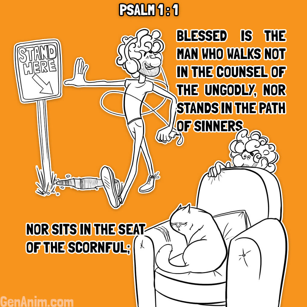 Psalm 1:1 Illustrated