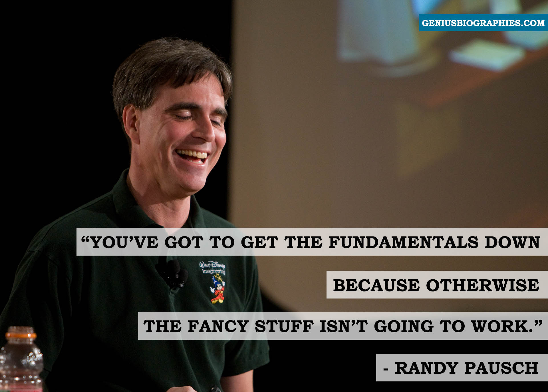 Randy Pausch and a quote of
