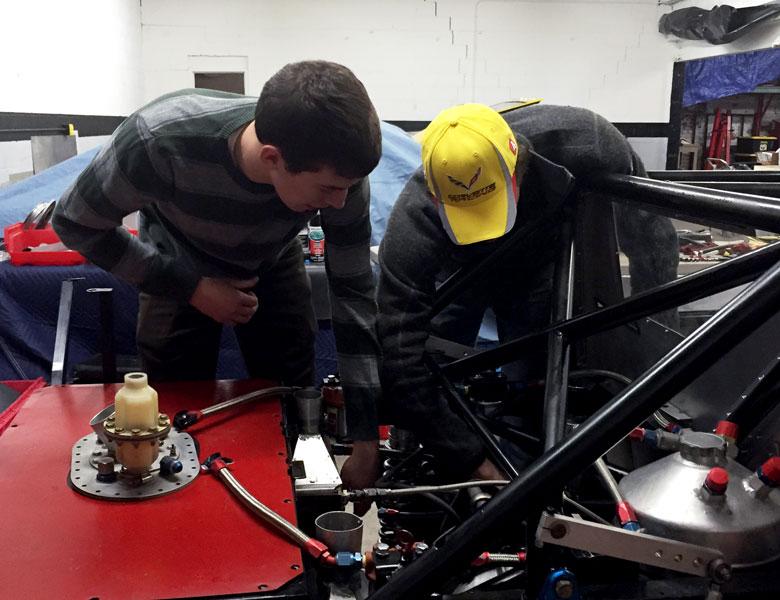 One-on-one mentoring for Chris Scherzer with Casey Putsch.