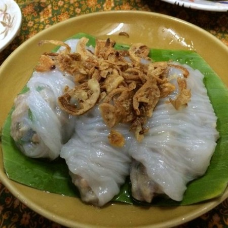 #1 dish I had in all of Thailand - fresh spring rolls with pork and shallot