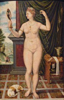 Anonyme, Vénus au miroir, XVIe siècle
