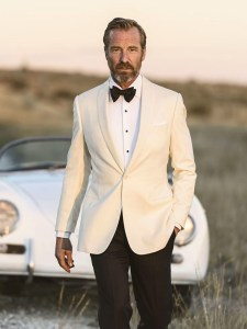 J Hilburn White Dinner Jacket