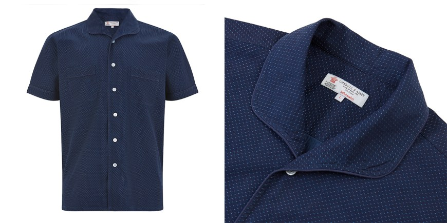 The Rockland Shirt in Navy Spot