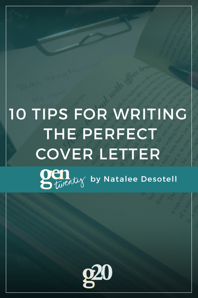 10 tips for writing the perfect cover letter