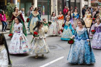 Fallas in Valencia Blumenparade