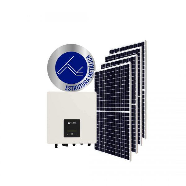 Inversor solar fotovoltaico FoxESS Monitoramento Wifi FoxESS Modulo fotovoltaico SUNOVA Stringbox Clamper Estrutura Solar Group Metálica