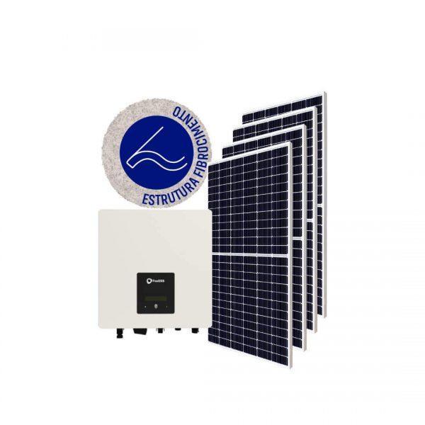 """Inversor solar fotovoltaico FoxESS Monitoramento Wifi FoxESS Modulo fotovoltaico SUNOVA Stringbox Clamper Estrutura Solar Group Fibrocimento"""""""