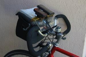 Altura bar bag with iPhone & GPS mount