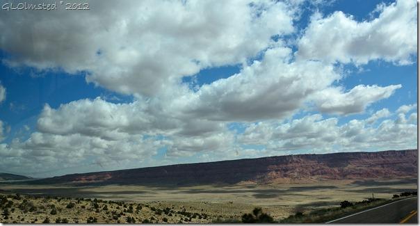 01e Cloud shadows on House Rock Valley SR89A E Kaibab NF AZ