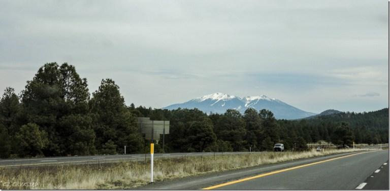 Mt Humphreys from I40 East Arizona