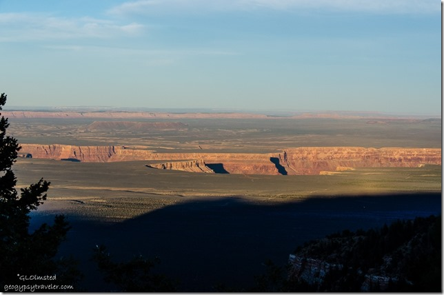 Shadow creeping across Marble Plateau from Marble View Kaibab Kaibab National Forest Arizona