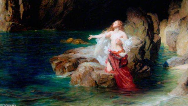 Ariadna abandonada por Teseo - Herbert James Draper