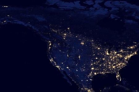 night satellite photos   earth, u.s., europe, asia, world