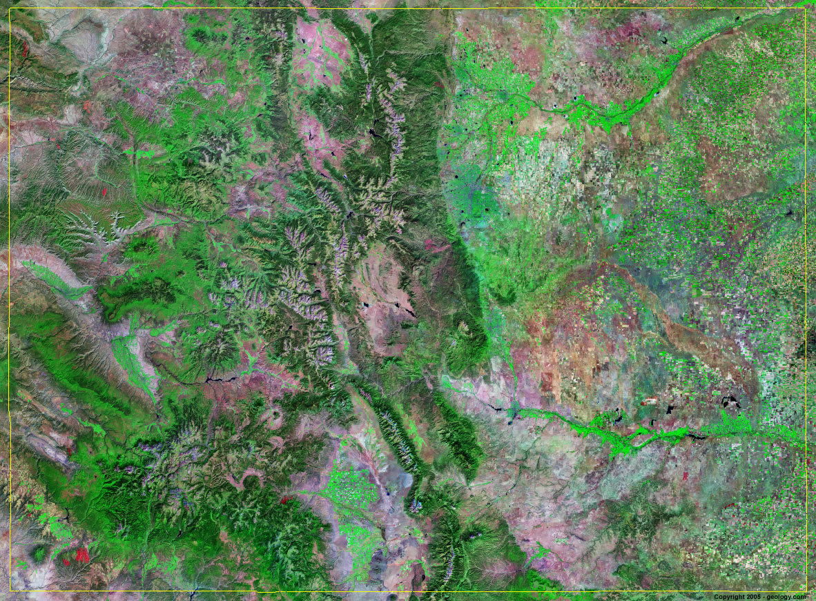 Colorado Satellite Images   Landsat Color Image Colorado satellite photo