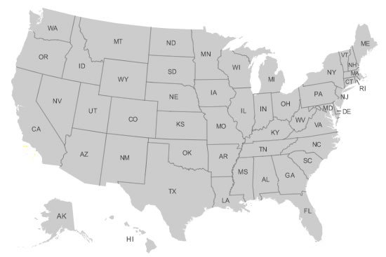 US Map Collections for All 50 States clickable USA map