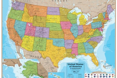 wall map of the united states laminated just $19.99!