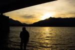 Fishman at sunset