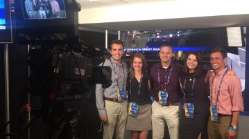 A group of Georgetown students at the 2016 Republican National Convention.  Photo courtesy of Richie Mullaney