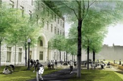 Proposed conditions outside of Rafik B. Hariri Building/Georgetown University  Campus Plan 2017-2036