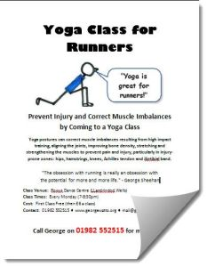 Runners Yoga Class Poster For Web
