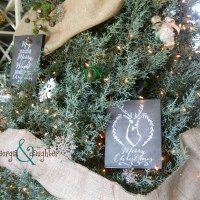 Christmas Chalkboard Canvas Gifts for $1