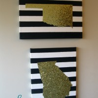 DIY Glitter State Canvases