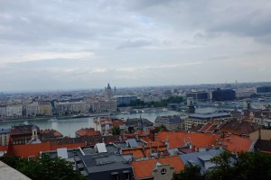 From the Fisherman's Bastion on Castle Hill, you can see a long way across the Danube and along its banks.