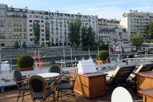 Before we set sail, we had a view of pricey Paris real estate from our ship's sundeck.