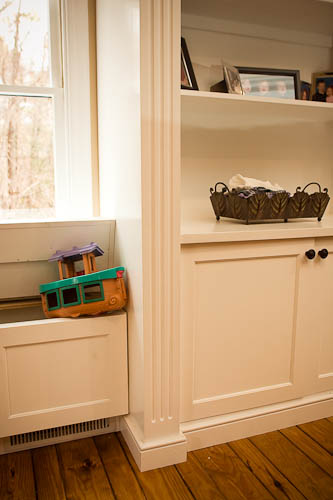 Custom Built-In Cabinets with bench chests