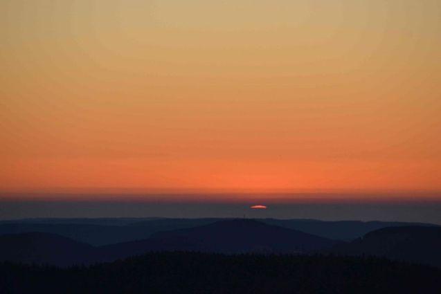 Coucher de soleil vu du Hohneck