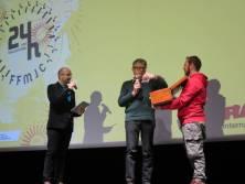 Ici avec Stephane Lepoil & Julien Thibault, Yves Rondet a procédé au tirage au sort du thème des 24H