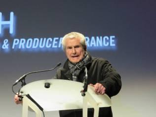 Le président du jury longs métrages Calude Lelouch