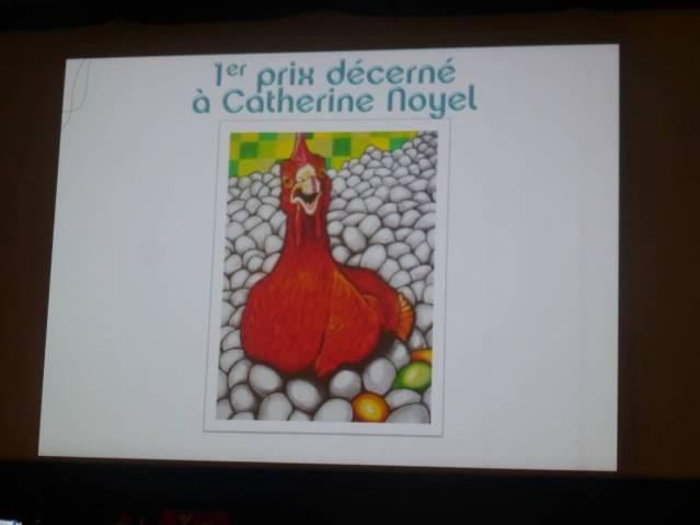 Dessin de Catherine Noyet qui remporte le 1er prix