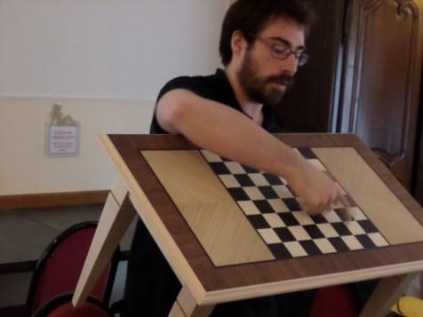 Benjamin LEROUSSEAU présente son oeuvre aux rotariens